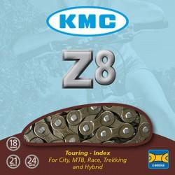 Cadena KMC Z-8S Cromada 116 pasos 7/8v