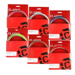 Fundas y cables de freno sellados de color blanco Clarks