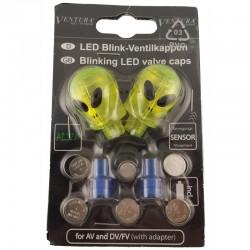 Tapones válvulacon LED (ROJO/AMARILLO)