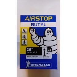 """cámara 26""""x1.45-2.60 C4 V/MOTO AV Michelin"""