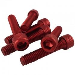 Tornillo allen cabeza cilindrica M6x20 color rojo