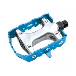 Pedales MTB aluminio eje CrMo. Pla/Ng/Bla/Rj/Az